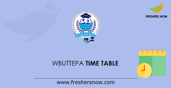 WBUTTEPA Time Table