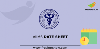 AIIMS Time Table