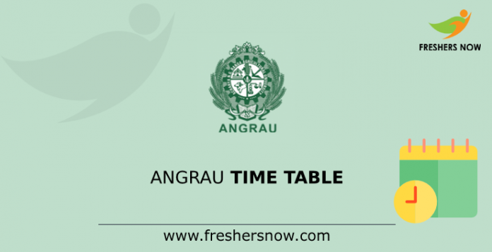 ANGRAU Time Table