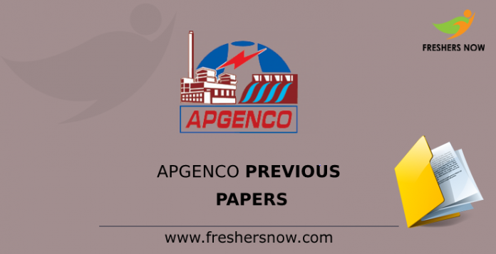APGENCO Previous Papers