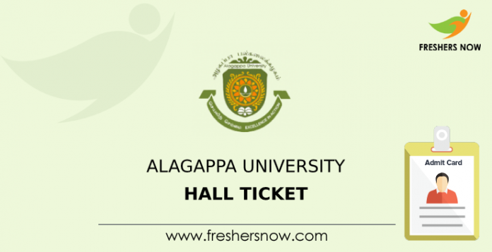 Alagappa University Hall Ticket