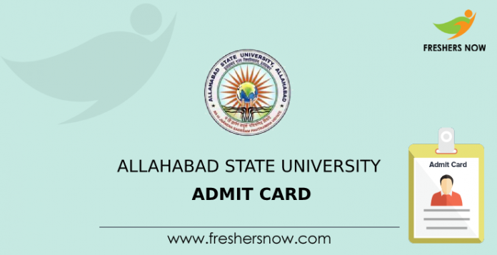Allahabad State University Admit Card
