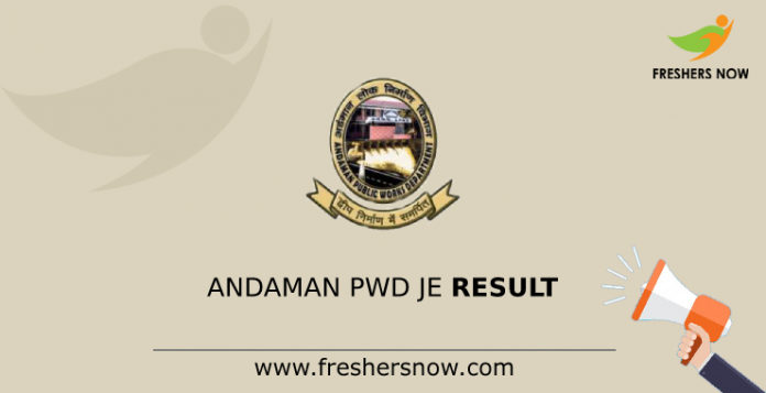 Andaman PWD JE Result