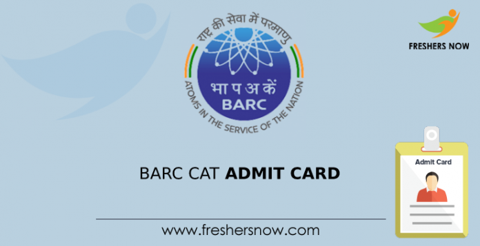 BARC CAT Admit Card