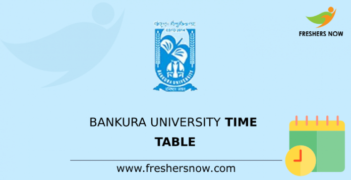 Bankura University Time Table