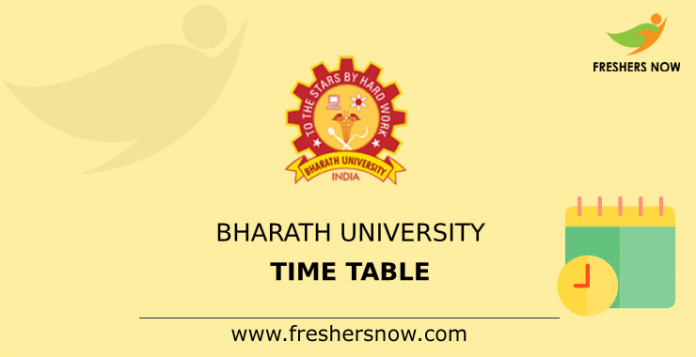 Bharath University Time Table