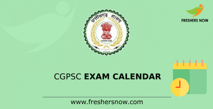 CGPSC Exam Calendar