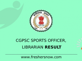 CGPSC Sports Officer, Librarian Result