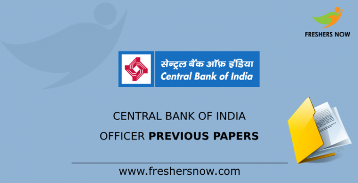 Central Bank of India Officer Previous Papers