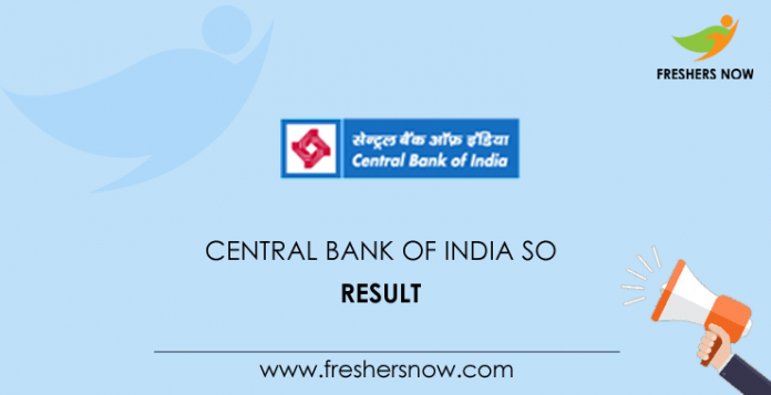 Central Bank of India SO Result