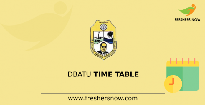 DBATU Time Table