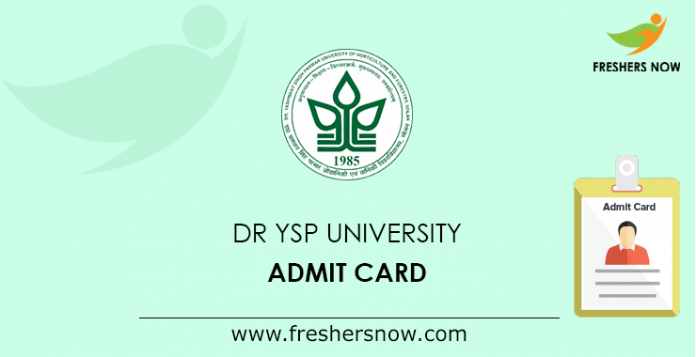 Dr YSP University Admit Card