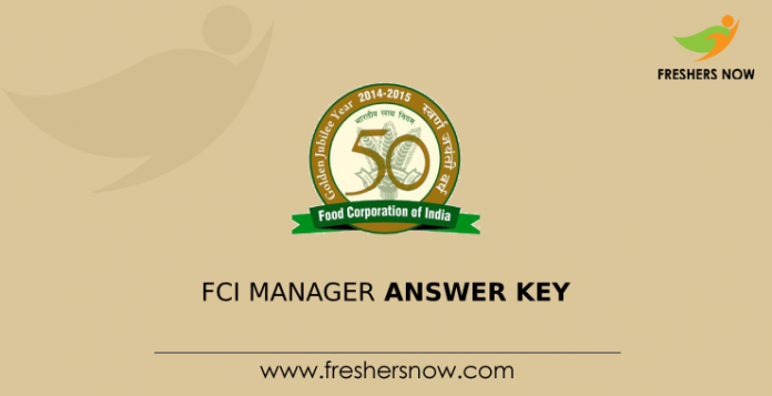 FCI Manager Answer Key