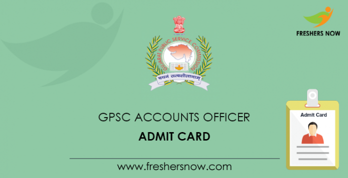 GPSC Accounts Officer Admit Card