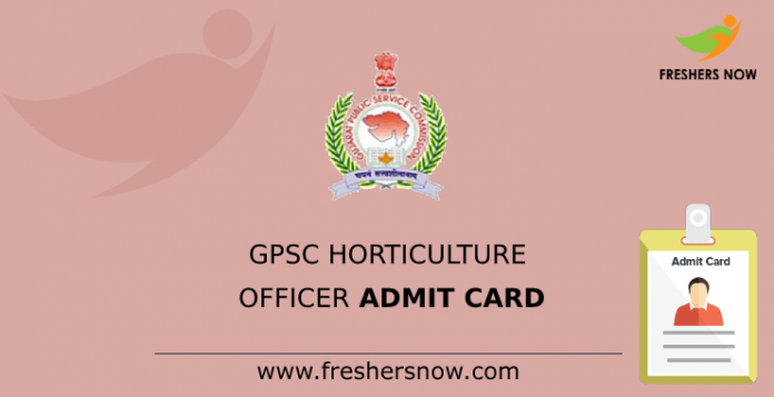 GPSC Horticulture Officer Admit Card