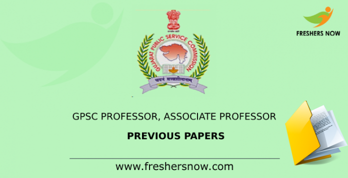 GPSC Professor, Associate Professor Previous Papers