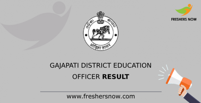 Gajapati District Education Officer Result