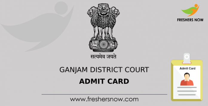 Ganjam District Court Admit Card