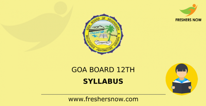 Goa Board 12th Syllabus
