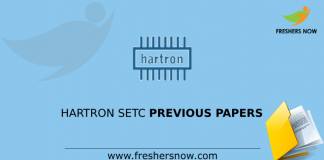 HARTRON SETC Previous Papers