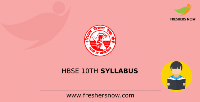 HBSE 10th Syllabus