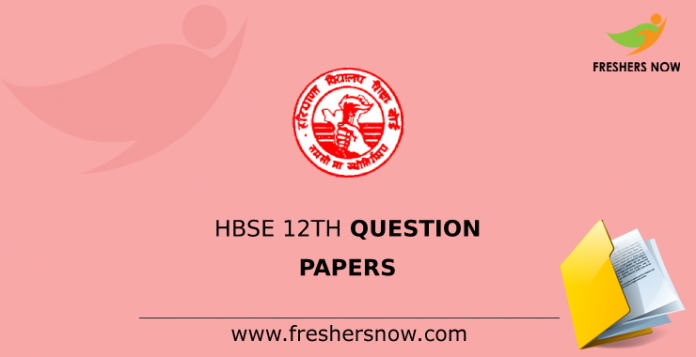 HBSE 12th Question Papers