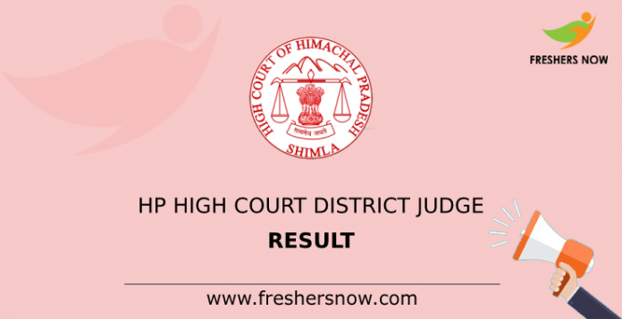 HP High Court District Judge Result