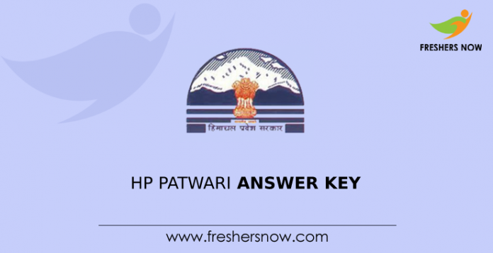 HP Patwari Answer Key