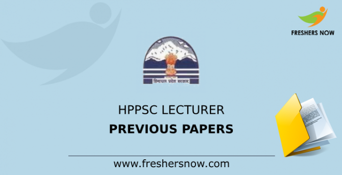 HPPSC Lecturer previous Papers
