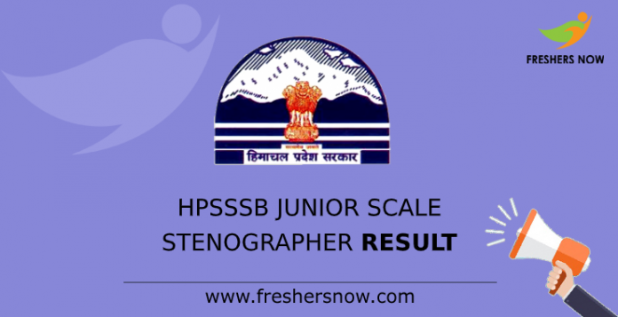 HPSSSB Junior Scale Stenographer Result