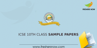 ICSE 10th Class Sample Papers