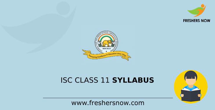 Isc Class 11 Syllabus 2020 Pdf Download Cisce 11th Exam Pattern