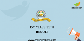 ISC Class 11th Result