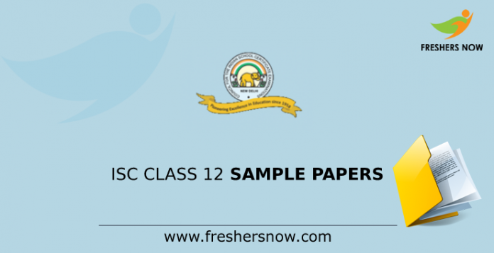 ISC Class 12 Sample Papers
