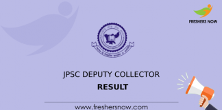 JPSC Deputy Collector Result