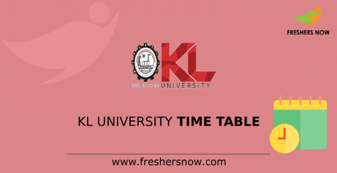 KL University Time Table