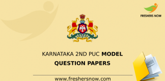 Karnataka 2nd PUC Model Question Papers