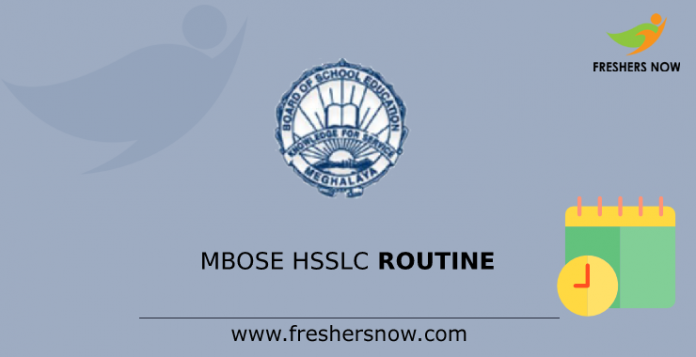 MBOSE HSSLC Time Table(1)