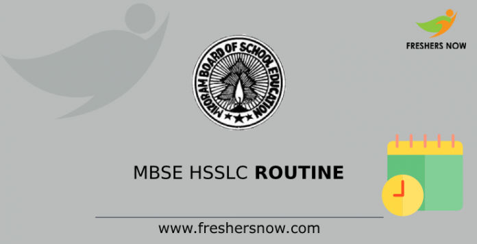 MBSE HSSLC Time Table