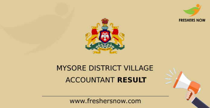Mysore District Village Accountant Result