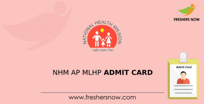 NHM AP MLHP Admit Card