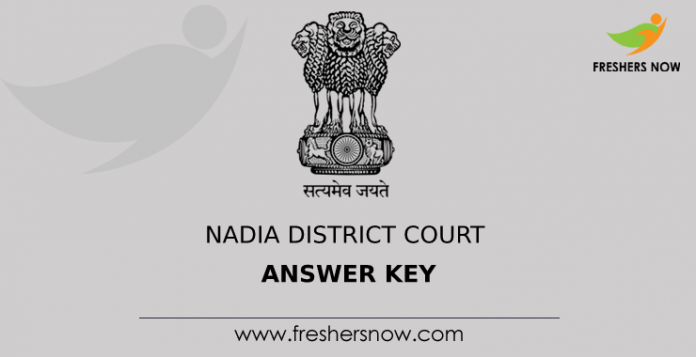 Nadia District Court Answer Key