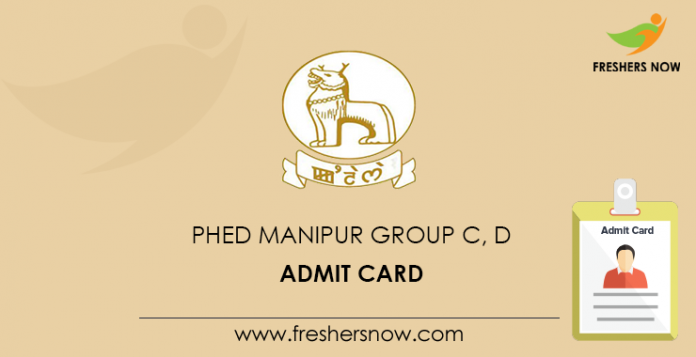 PHED Manipur Group C, D Admit Card