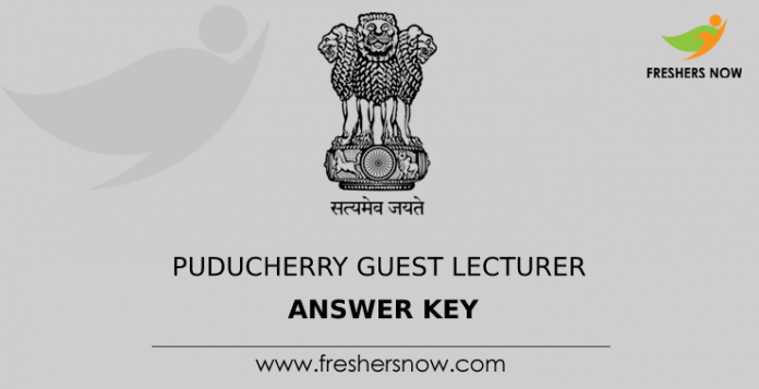 Puducherry Guest Lecturer Answer Key