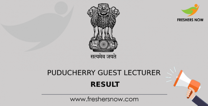 Puducherry Guest Lecturer Result