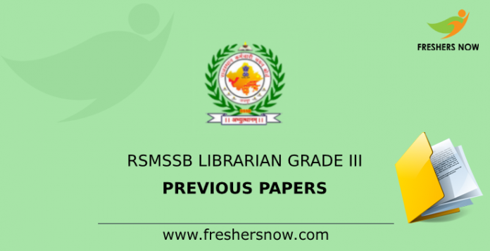 RSMSSB Librarian Grade III Previous papers