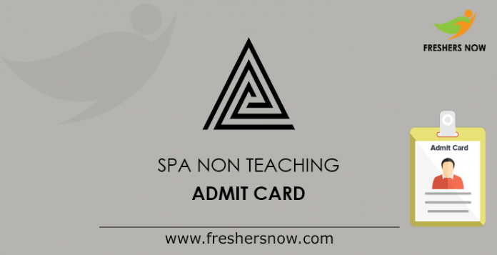 SPA Delhi Non Teaching Admit Card