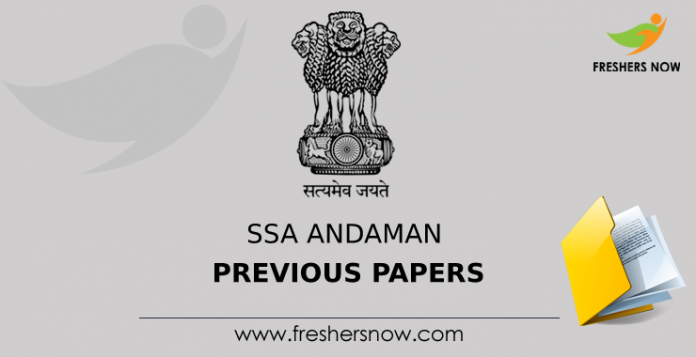 SSA Andaman Previous Papers