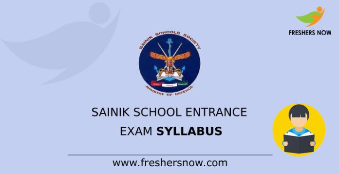 Sainik School Entrance Exam Syllabus
