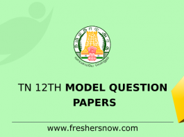 TN 12th Model Question Papers
